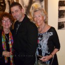 Fellow Artist and Las Olas Gallery Owner visiting opening night