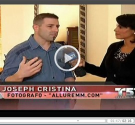 "Telemundo / NBC 6 TV Segment with Joseph Cristina & Fabiola Cristina forcing on their ""Classy Not Trashy"" Boudoir Photography Sessions"