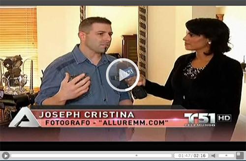 "Telemundo / NBC 6 TV Segment with Joseph Cristina & Fabiola Cristina forcing on their ""Classy Not Trashy"" Boudoir Photography Sessions"